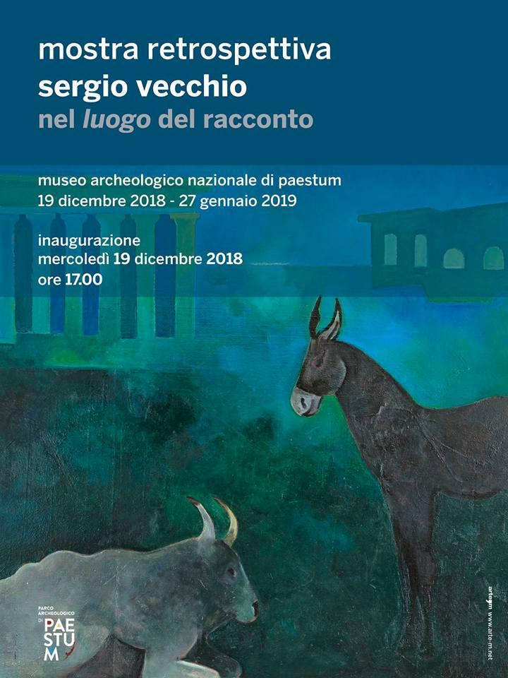 Locandina Mostra Opere di Sergio Vecchio a Paestum