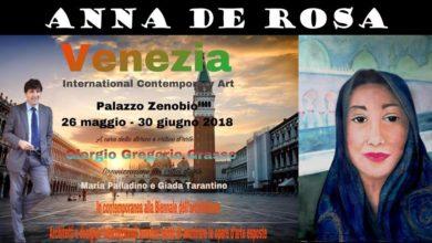 Photo of La Pittrice salernitana Anna De Rosa espone a Venezia