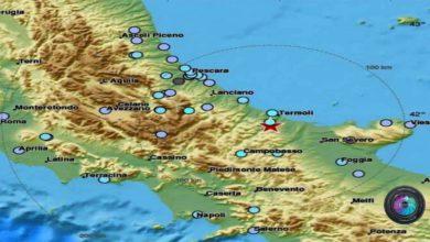 Photo of Terremoto in Molise: avvertito anche in Campania