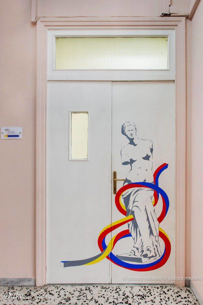 porat decorata di un'aula
