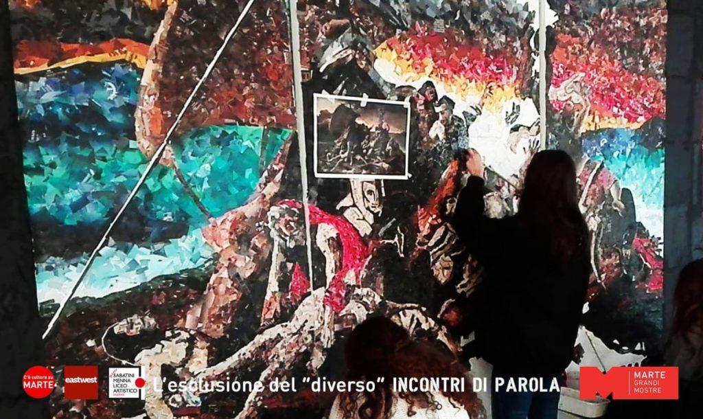 La Zattera della Medusa- rielaborazione degli allievi del Liceo Artistico Sabatini Menna di Salerno Mostra al Marte-Mediateca Cava dè Tirreni
