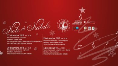 Note di Natale: Camera di Commercio di Salerno Concerti dal 27 dicembre al 4 gennaio, Locandina