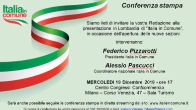 Photo of Milano: Italia in Comune, la presentazione il 19 dicembre alla Federcommercio