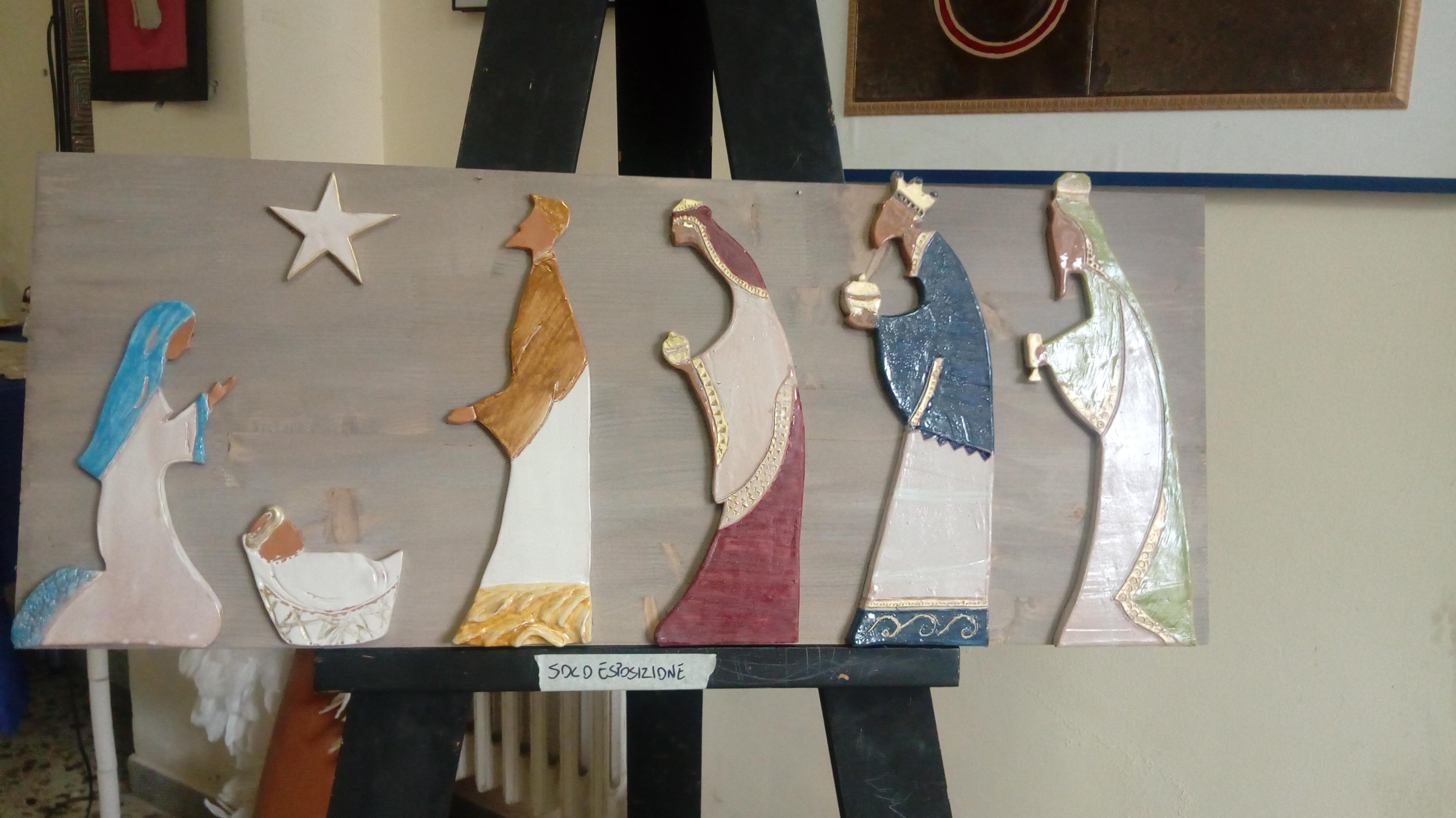 Presepi in ceramica realizzati dagli allievi del Liceo Artistico Sabatini Menna di Salerno