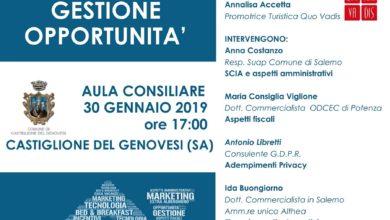 Photo of Castiglione dei Genovesi, Salerno: il seminario per le strutture ricettive