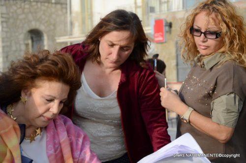 Maria-Pia-Cerulo-con-Stefania-Sandrelli-sul-set-Il-Pesce-Pettine
