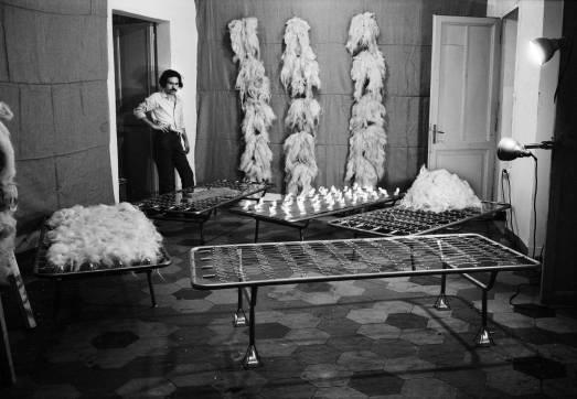 Jannis Kounellis in the studio, 1969. Ph. Claudio Abate