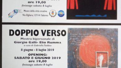 Photo of Elio Rumma e Giorgio Galli al Museo Città Creativa di Ogliara, Salerno