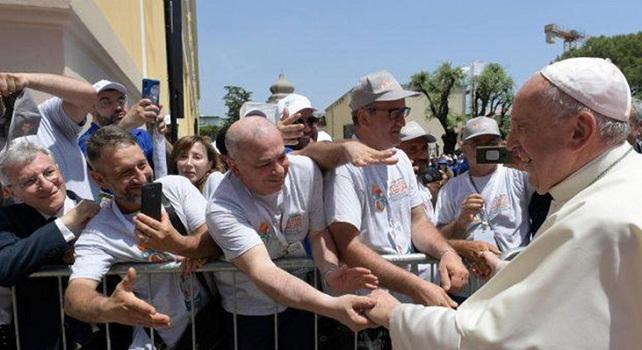 Papa a Napoli- fonte: agi