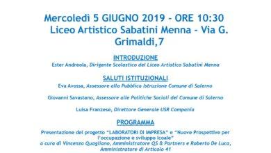 Photo of Scuola Viva: la manifestazione finale al Liceo Artistico Sabatini Menna