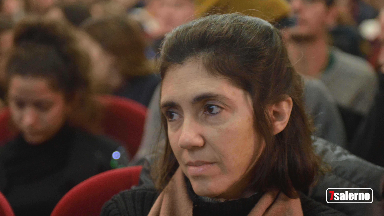"""Maria Victoria Guevara, sorella del """"Che"""" al Liceo Artistico di Salerno. Fotoreporter G.Gambardella per Sevensalerno. Copyright2019.Sevensalerno"""