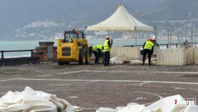 Photo of Gazebo sul lungomare a Salerno, smontati dopo quattro anni