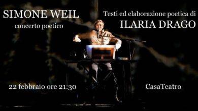 Photo of Cava dè Tirreni, la Compagnia Ilaria Drago presenta Simone Weil concerto poetico
