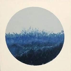Carola-Bolous-Somebluemustbe-acrilico-su-tela-40x40x3cm-2019