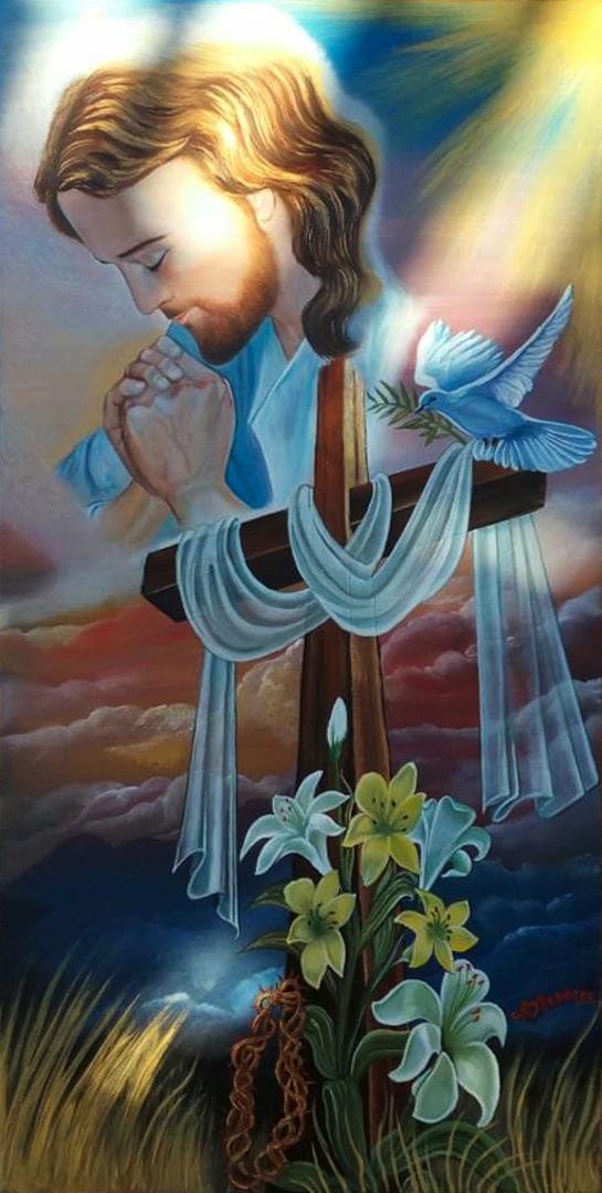 ALOISE Rosanna- Prega per noi, olio su tela, 40x50