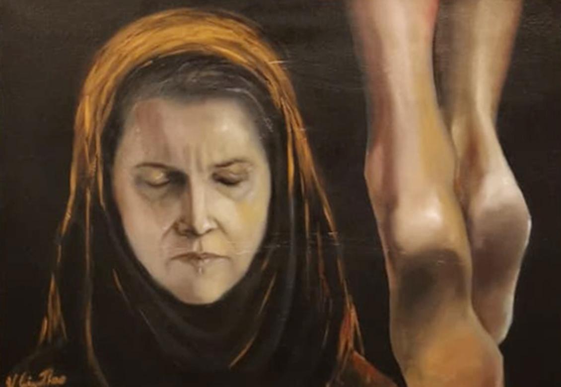 GIGANTINO Viviana, La Pieà, olio su tela, 50x70