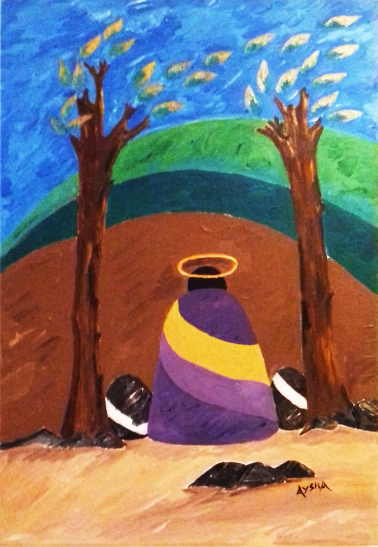 IANNONE Maria, L'Orto degli Ulivi acrilico su tela, 50x70