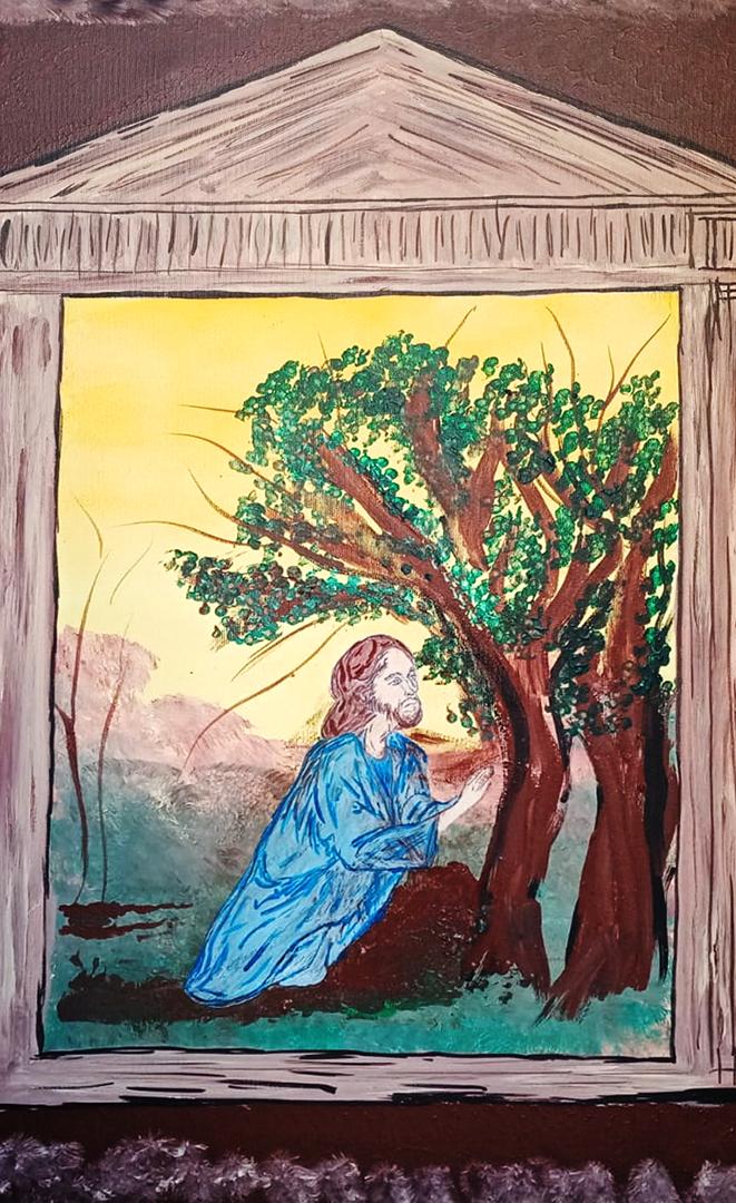 LAMATTINA Maria Rosaria, L'Orto degli Ulivi acrilico, 70x50