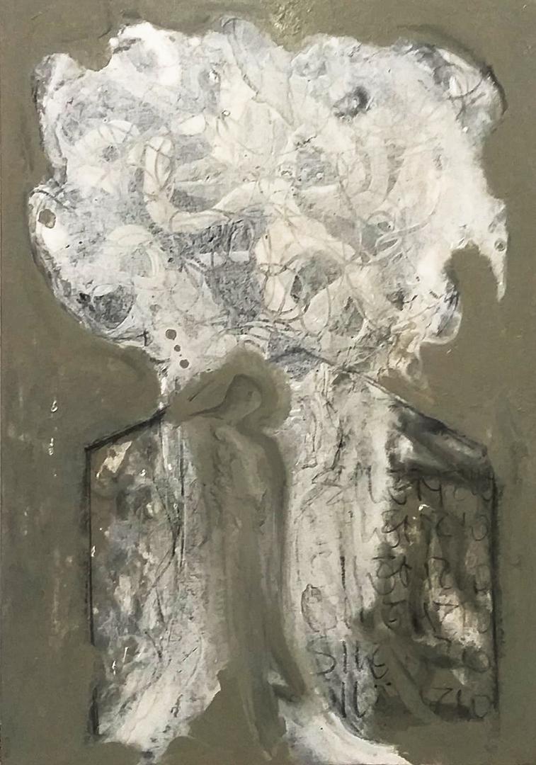 SILVESTRO Pietro - SILENZIO 2019, mixed media su tela 70x100