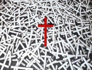 VII-Gesù-è-caricato-della-croce-RONZONI-Giovanni-olio su tela 50x70