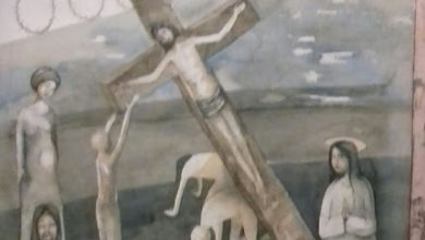 Photo of Via Crucis: XII Gesù in Croce, la Madre e il Discepolo, Artista Barbara Cotignoli