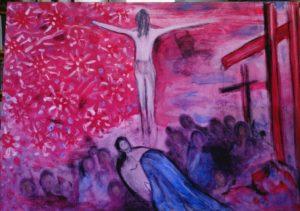 XIV-Gesù-deposto-nel-Sepolcro-AnnaDeRosa acrilico su tela 50x70
