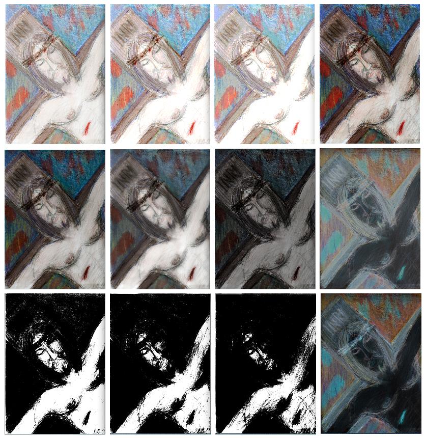 I dodici Volti della Passione- stampa digitale 90x90 Lello Cicalese, 2020