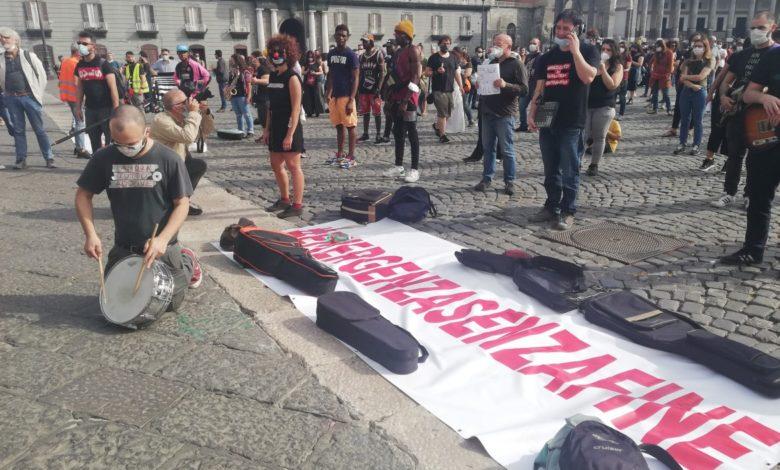 Protesta Artisti Napoli (Foto dal web)