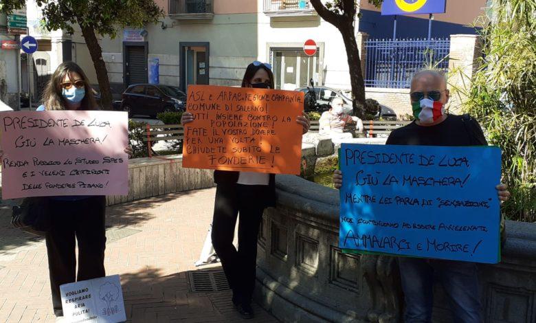 Presidio Fonderie Pisano Salerno-Protesta residenti