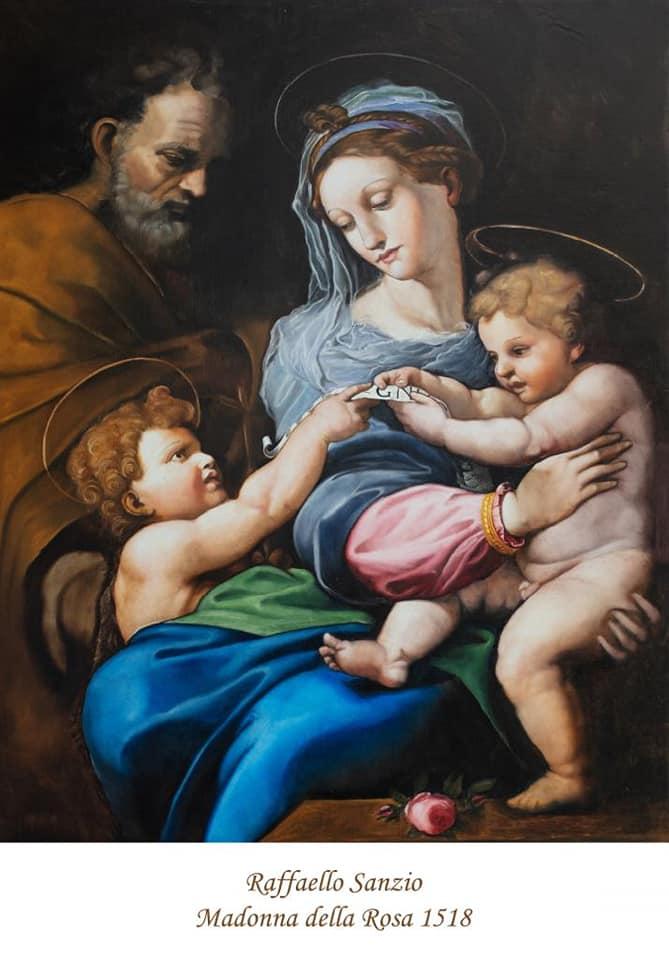 La Madonna della Rosa- Raffaello- riproduzione- Museo Diocesano di Salerno