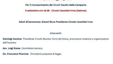 Photo of Salerno: l' On. Picarone presenta Proposta Legge Regionale per riconoscimento Circoli Nautici Campania