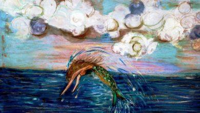 Anna Noschese-La Sirena-acrilico su tela