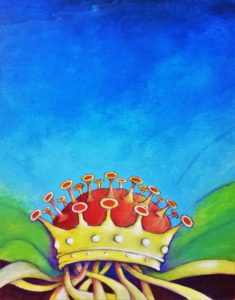 Paolo Solei, Corona, olio su tela, 50x50, 12mar20