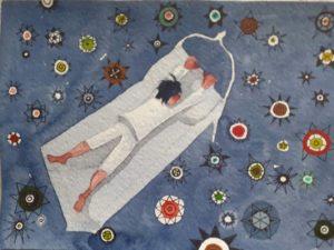 Barbara Cotignoli, Marco tra le Stelle, acquerello, 50x50, 2020