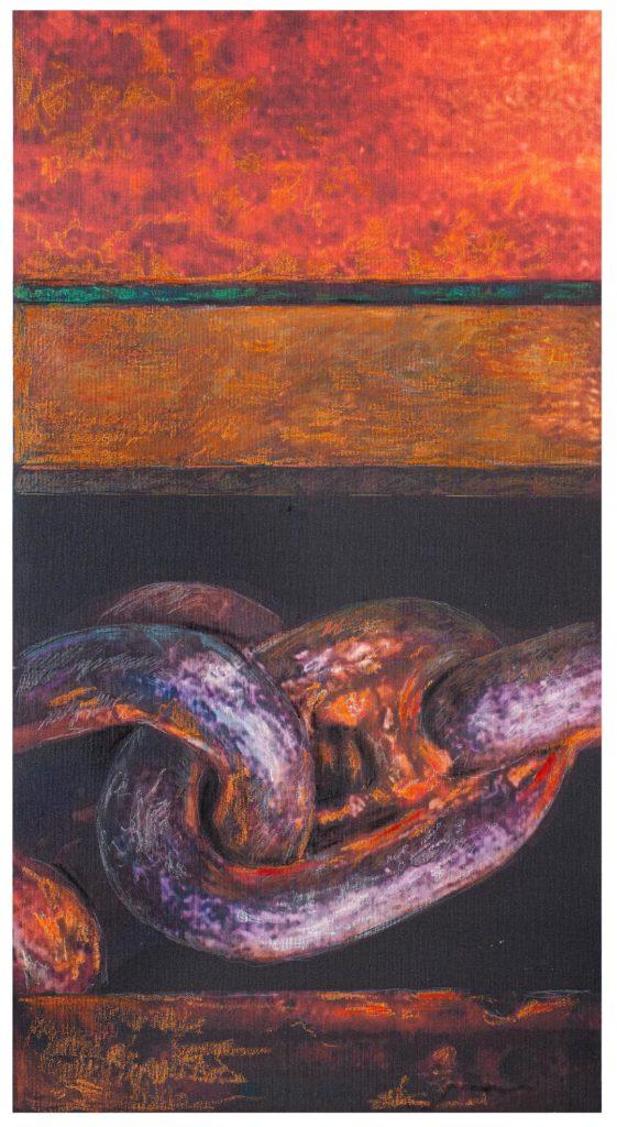Roberto Di Blasio, Senza Titolo, mista su tela, 82x43, 2021