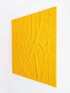B Giovanni Ronzoni Col SoleDentro _ 2021 _ TM acrilico su carta da pacco e cerata su tela pittorica _ Trasversale, 60 x 50