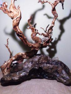 Davide Mirabella, Anima Mundi, scultura lignea , 2021
