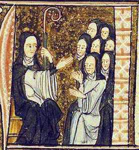 Santa Ildegarda, Miniatura del XIII secolo- Di Sconosciuto - [1], Pubblico dominio, https://commons.wikimedia.org/w/index.php?curid=8543039